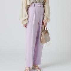 [mystic] กางเกงทรงตรงพร้อมเข็มขัด