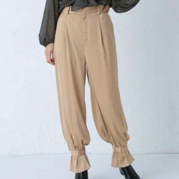 [Lui's] กางเกงขายาวจั๊มปลายขา