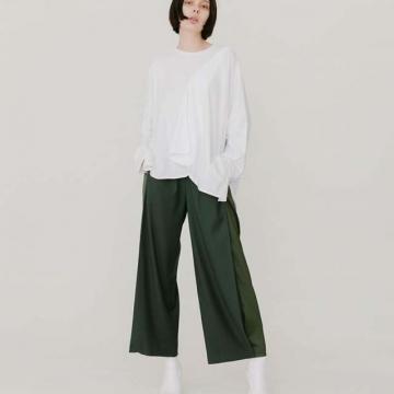 [Lui's] กางเกงสแลคสีพื้น