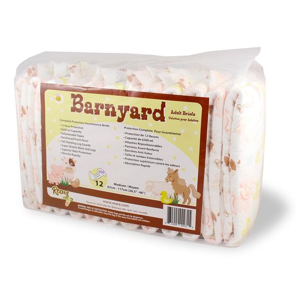 ABDL-Rearz Barnyard ผ้าอ้อมเกรดพรีเมี่ยมสำหรับเด็ก (2ชิ้น / แพ็ค)