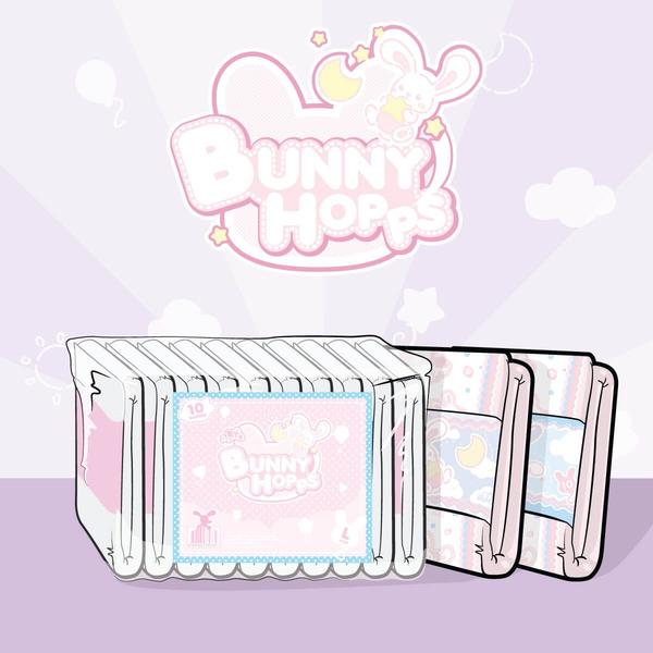 ABDL-ABU BunnyHopps ผ้าอ้อมสำหรับผู้ใหญ่(2 ชิ้น )