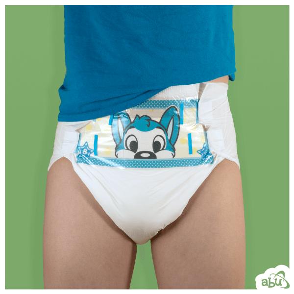 ABDL-ABU PEEK Peeping Little Naughty ผลิตภัณฑ์ผ้าอ้อมสำหรับผู้ใหญ่(2 ชิ้น / แพ็ค)