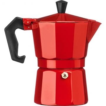 Premier Italian Moka Pot (3 Red Cups)