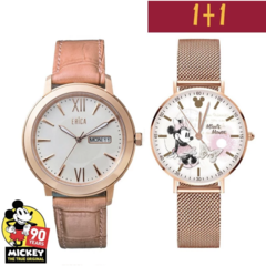 【ERICA】นาฬิกาข้อมือสแตนเลส ERICA X MICKEY MOUSE 90S 1+1 สีโรสโกลด์ รุ่น ER-17-GLL