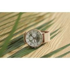 【ERICA】นาฬิกาข้อมือสแตนเลส Unisex มิลาน 3 หน้าปัด -สีโรสโกลด์ (รุ่น ER-19-GW)