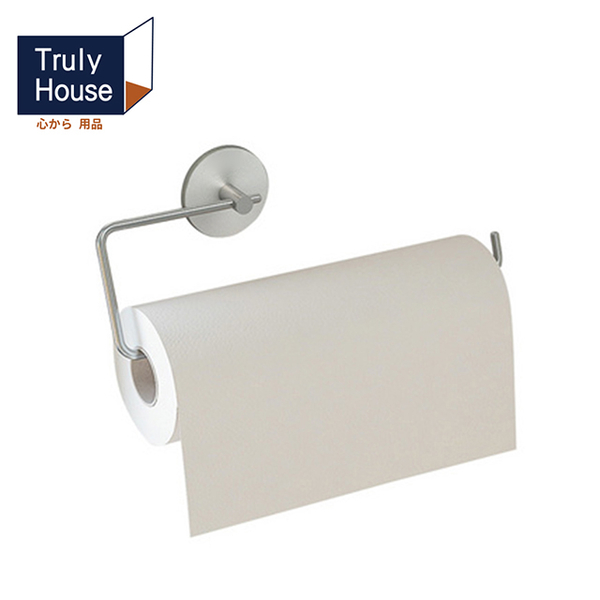 (Truly House)[Truly House] Punch-free 304 stainless steel long paper towel rack/kitchen towel rack/towel rack/toilet paper rack/non-marking sticker