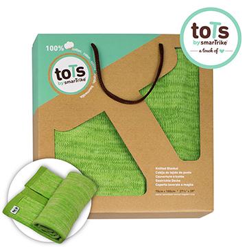 """British smarTrike-Tots"" ผ้าห่มผ้าฝ้ายนุ่ม ๆ ถักแบบสากล (สีเขียวหญ้า)"