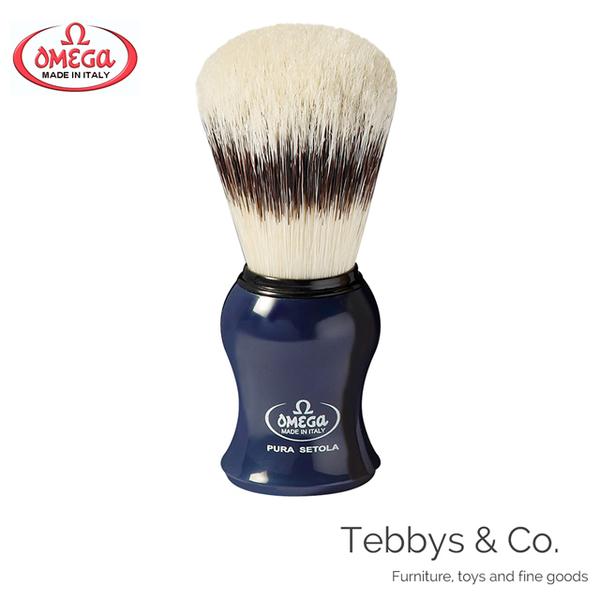 Italian Omega Professional Shaving Brush Dark Blue