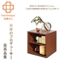 [Sato] Hako มีตู้สองชั้นสไตล์สตอรี่ (เมล็ดวอลนัทวินเทจ)