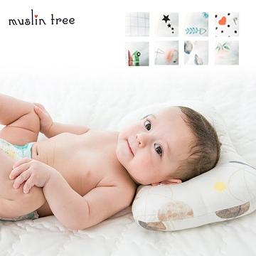 หมอนเด็ก MuslinTree หมอนป้องกันศีรษะแบนสำหรับเด็กแรกเกิด