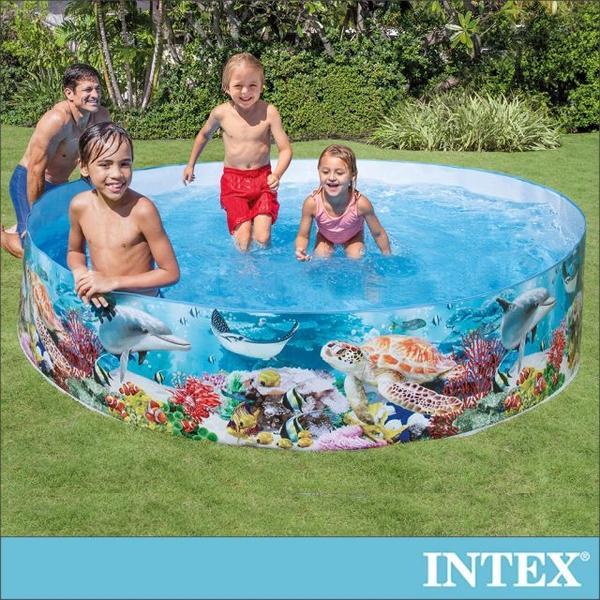 INTEX 免充氣幼童戲水游泳池244x46cm(58472)