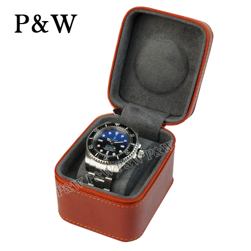 (P&W)[P&W Watch Collection Box] [Leather Leather] 1 Handmade Boutique Watch Box