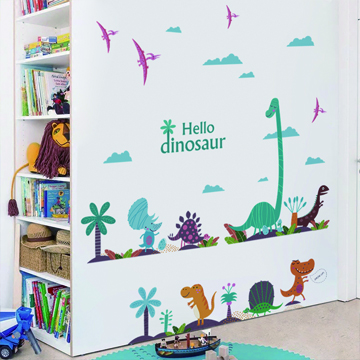 """""""Style-life"""" situation ◇ home decoration wall stickers wall stickers affixed to glass furniture stickers affixed ★ playful long - Dinosaur World"""