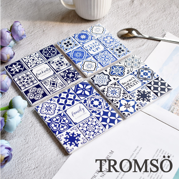 (tromso)TROMSO Roman tile coaster insulation pad-four into the group G407