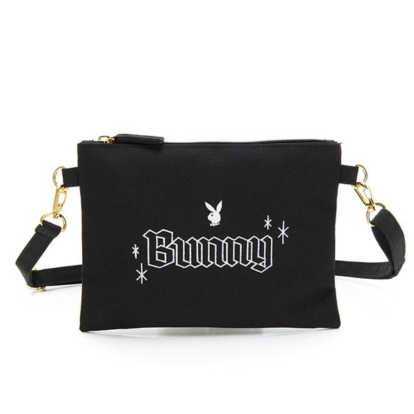 (playboy)PLAYBOY- Crossbody Bag Bunny Rabbit Series-Black