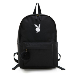 PLAYBOY- กระเป๋าเป้สะพายหลัง BUNNY Rabbit Series-Black