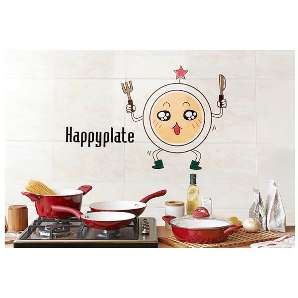 【益萊家居】透明廚房自黏耐高溫防油防污壁貼 瓷磚牆貼 ◆ 新悦小盤 ( 2 入 )