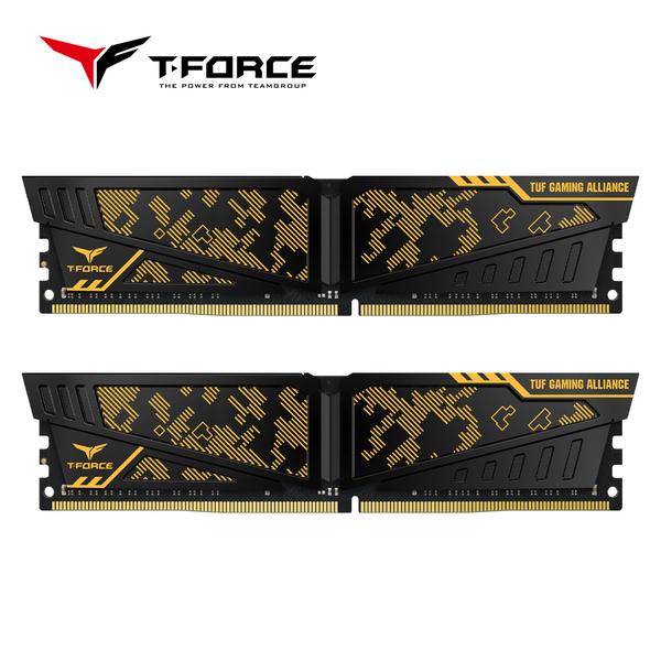 TEAM十銓 T-FORCE VULCAN TUF Gaming Alliance DDR4 3600 16GB(8GBX2) 桌上型電競記憶體