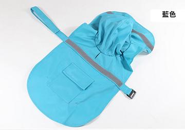 New pet dog raincoat casual - blue -L No.