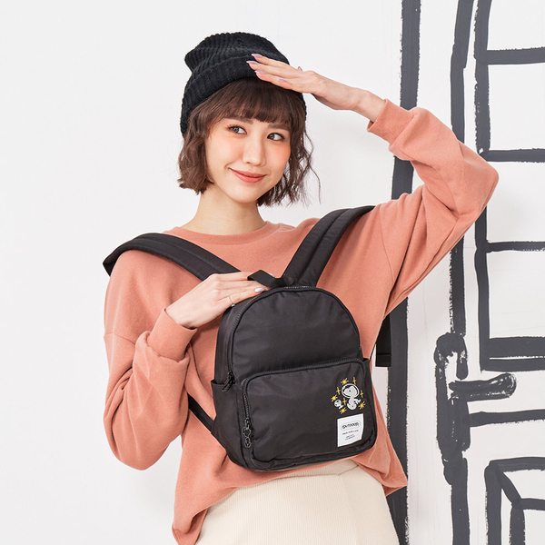 (outdoor)[OUTDOOR] SNOOPY Co-branded Lady Series Backpack-Small-Black ODP20C02BK