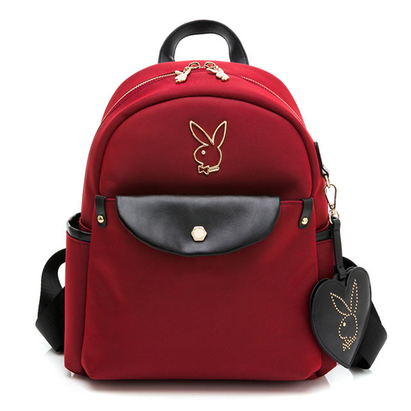 (playboy)PLAYBOY-Backpack Smart Series-Red
