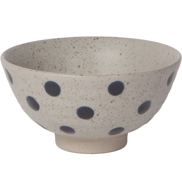 (NOW)NOW Stoneware Dinner Bowl (Blue Dot 12cm)
