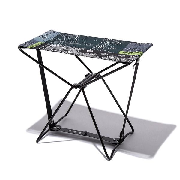 (kiu)Japan KIU 228-228 Zakka patchwork style portable folding stool with storage bag