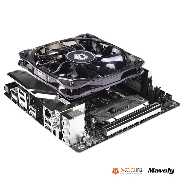 (ID-COOLING)ID-COOLING IS-50X multi-platform low-profile down-blow 12cm temperature-controlled silent fan with five heat pipes for heat dissipation (c