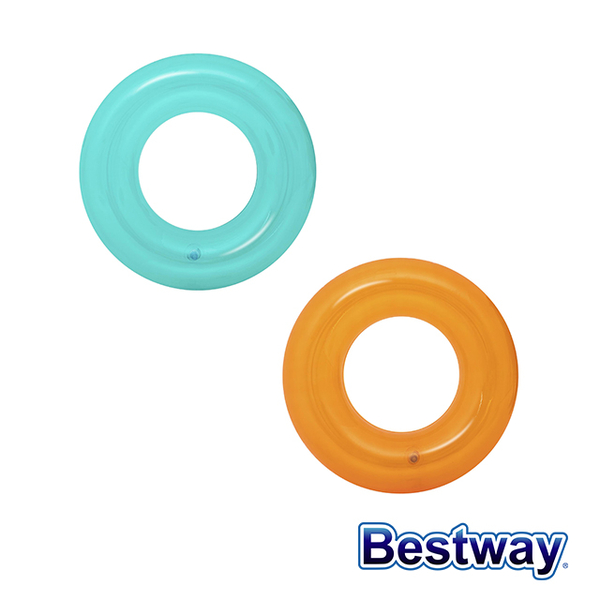(bestway)【Love and Rich L&R】Bestway Sweet Jelly/Transparent Inflatable Children's Swimming Ring 36022