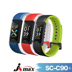 JSmax SC & # 8209; C90 PLUS สร้อยข้อมือกีฬาการจัดการสุขภาพแบบมัลติฟังก์ชั่นอัจฉริยะ