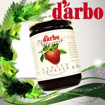 D'arbo 天然風味果醬-花園草莓(450g/罐)