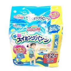 ญี่ปุ่น GOO.N Water Play ผ้าอ้อมเด็ก 9 ~ 14 กก. (L) 12 ชิ้น