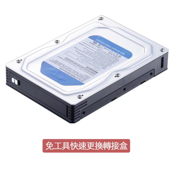 2.5-inch SATA to 3.5-inch SATA hard drive transfer box