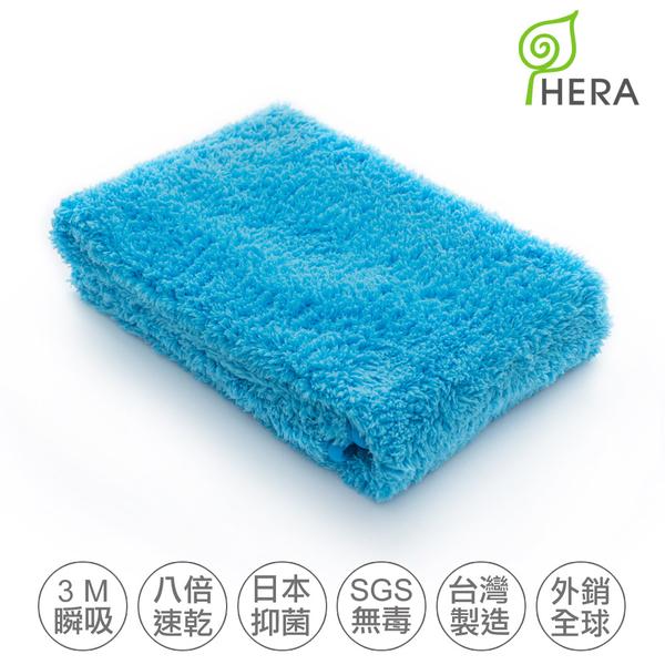 【HERA】3M專利瞬吸快乾抗菌超柔纖休閒組-大浴巾+運動毛巾 皇家藍