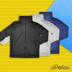 PEILOU เสื้อแจ็คเก็ตกันแดดป้องกันรังสียูวีระบายอากาศสูง (ปลอกคอตั้งสำหรับผู้ชาย) 3 สี