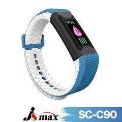 JSmax SC-C90 Smart Multifunctional Health Management สร้อยข้อมือกีฬา - (สีน้ำเงิน)