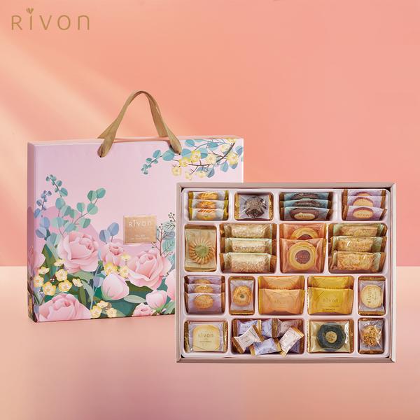 [禮坊] 綜合餅乾禮盒-芙洛拉(單層) x5盒 (附提袋)
