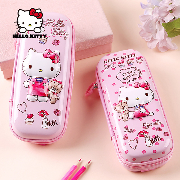 (hello kitty)[HELLO KITTY] 3D three-dimensional pattern large-capacity multi-compartment pencil case