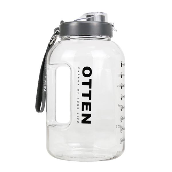 (OTTEN)OTTEN large caliber PETG fitness water bottle cold water bottle original color 3.78L