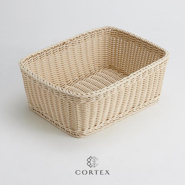 (CORTEX)CORTEX Storage Basket Bath Towel Basket Rectangular W50 Beige