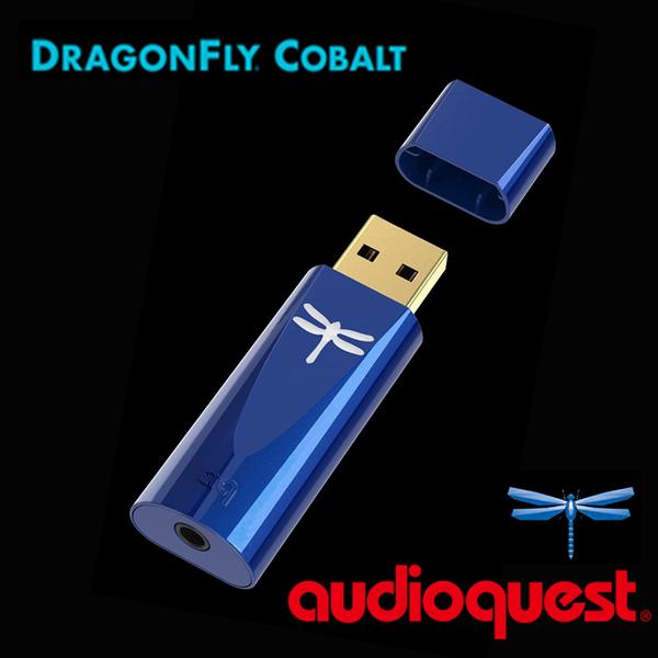 Audioquest DragonFly USB DAC COBALT แอมพลิฟายเออร์หูฟังดิจิตอลเป็นอนาล็อก (เวอร์ชั่นโคบอลต์รุ่นที่สี่) Blue Dragonfly