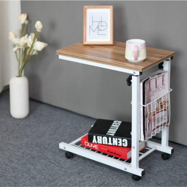 โต๊ะข้างยกล้อเลื่อนแบบเคลื่อนย้ายได้, โต๊ะกาแฟ, โน๊ตบุ๊ค, โต๊ะเล็ก-Oak