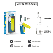 ชุดแปรงสีฟันพกพาสำหรับนักเดินทาง BANALE MINI TOOTHBRUSH 2 in 1 Travel Toothbrush Pocket-sized and refillable
