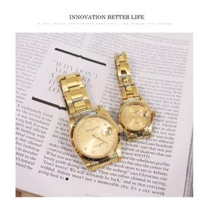 [Valentino Coupeau] เพชรสแตนเลสสีทองเต็มรูปแบบพร้อมนาฬิกากันน้ำ (สองรุ่น)