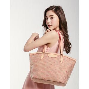 ELECONCE PARALLEL กระเป๋าถือ/สะพายใหล่ (สีแดงส้ม)