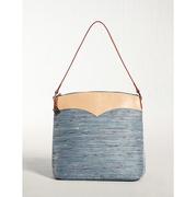 ELECONCE PARALLEL กระเป๋าถือทรงถัง (สีฟ้า)