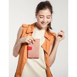 ELECONCE PARALLEL กระเป๋าสตางค์ใบยาว (สีแดงส้ม)